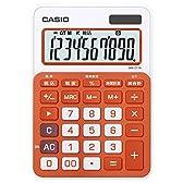 カシオ カラフル電卓 ミニジャストタイプ 10桁 MW-C11A-RG-N フレッシュオレンジ
