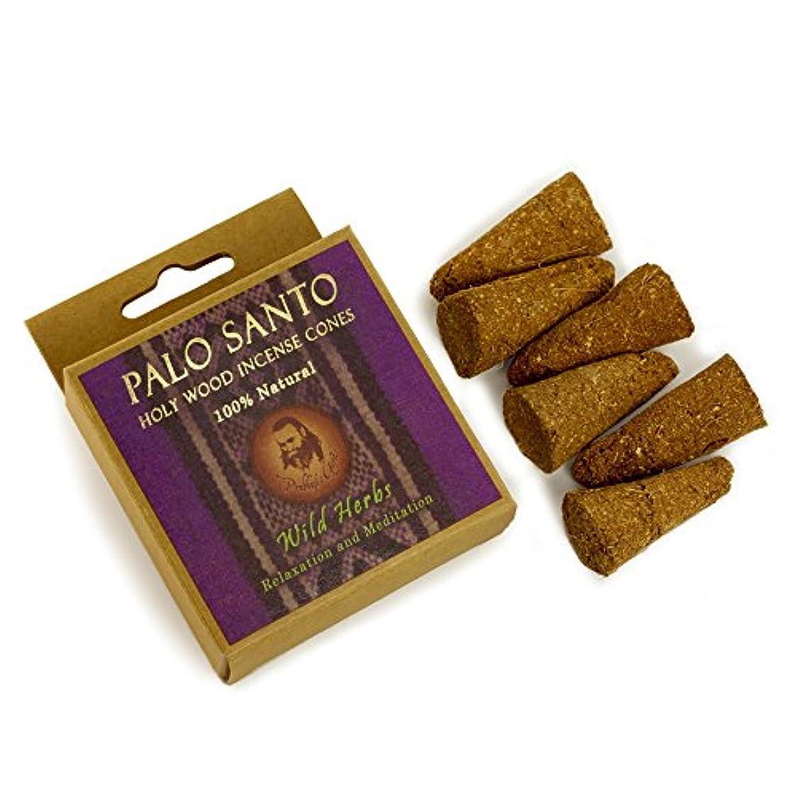 口粉砕する才能のあるPalo Santo and Wild herbs – Relaxation &瞑想 – 6 Incense Cones