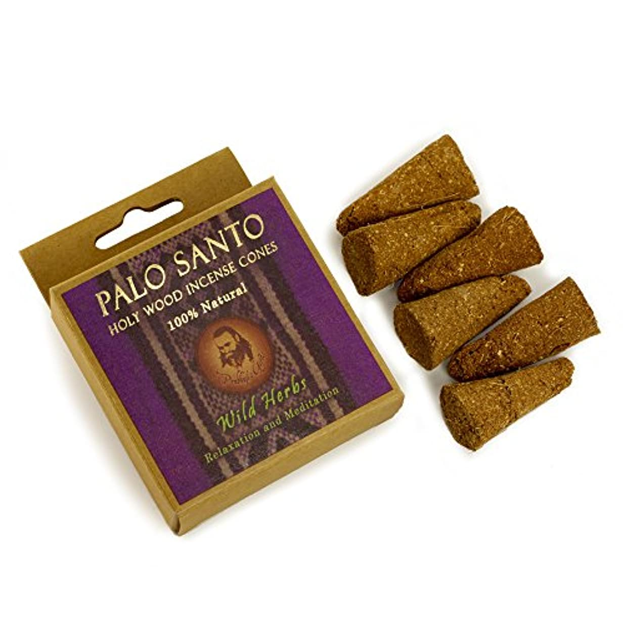 住居廃棄従順なPalo Santo and Wild herbs – Relaxation &瞑想 – 6 Incense Cones