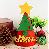 HuaQingPiJu-JP DIY手作りハットクリスマスハットホリデーパーティーハットクリスマスデコレーション(クリスマスツリー)