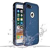 SPORTLINK iPhone7 Plus 防水ケース iPhone8 Plus 防水ケース 耐衝撃 防塵 防雪 保護ケース 指紋認証対応 軽量 高品質 無線充電サポート 携帯カバー (7Plus/8Plus ブルー)
