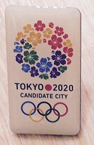 2020 東京オリンピック 招致 ピンバッジ 四角タイプ 桜のリー・・・
