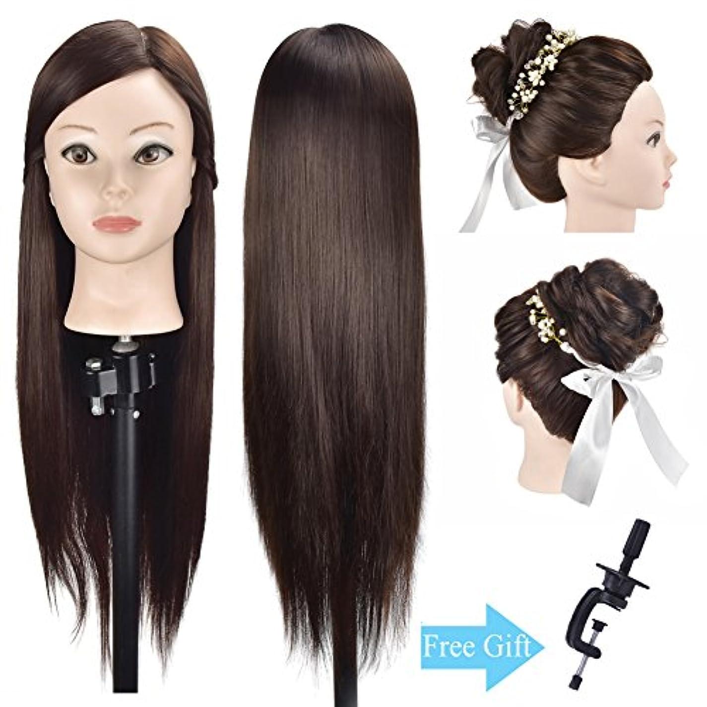 置くためにパック禁止する晩餐練習用 編み込み練習用 ウィッグマネキンヘッド ヘアアクセサリーセット 美容室サロン 100%合成髪