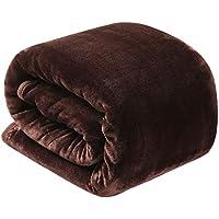 毛布 ブランケット 暖かい 軽い マイクロファイバー 薄手毛布 柔軟軽量 洗濯可能 静電気抑制(ブラウン 180 * 200 ダブル)品質長期保証 TEKAMON(テカモン)