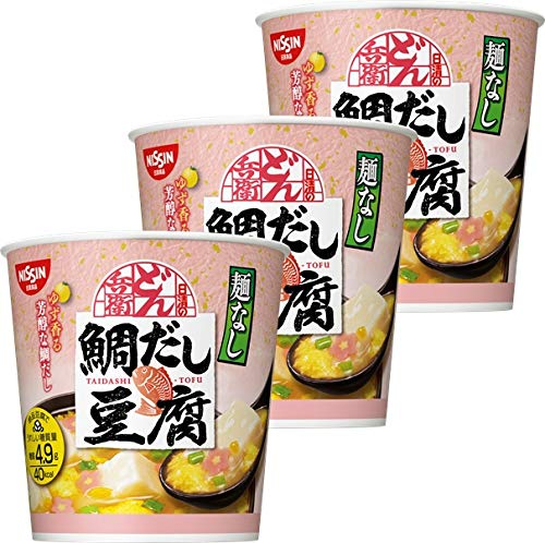 日清 麺なしどん兵衛 鯛だし豆腐スープ 11g ×3個