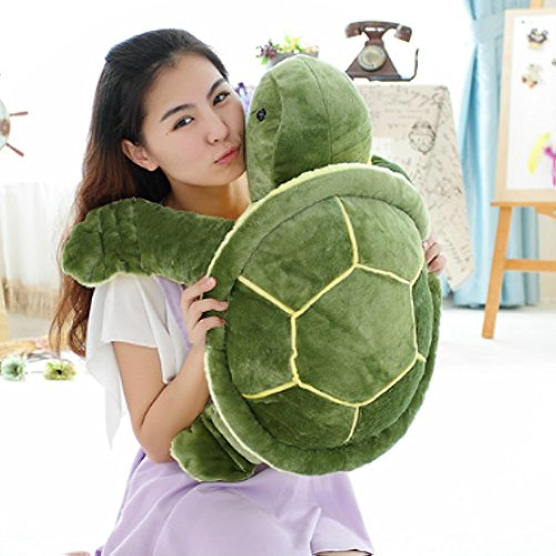 yousyu ぬいぐるみ 亀 カメ/かめ 特大 大きいサイズ 動物ぬいぐるみ 巨大 可愛い抱き枕 子供のプレゼント ふわふわなインテリア雑貨 置物 (80CM)
