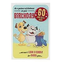 彼のための特徴60周年記念カード「バッジ付き」 - 中