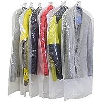 洋服カバー 衣類カバー 12枚 片面透明 片面不織布で中身が見える 安心の日本製 大切な衣類のほこりよけに