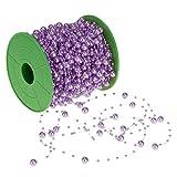 Homyl ビーズチェーン ビーズロール 人工パール DIYクラフトプロジェクト 装飾 文字列 ガーランド パーティー インテリア DIY 工芸品 約60m 多色選べる - 紫