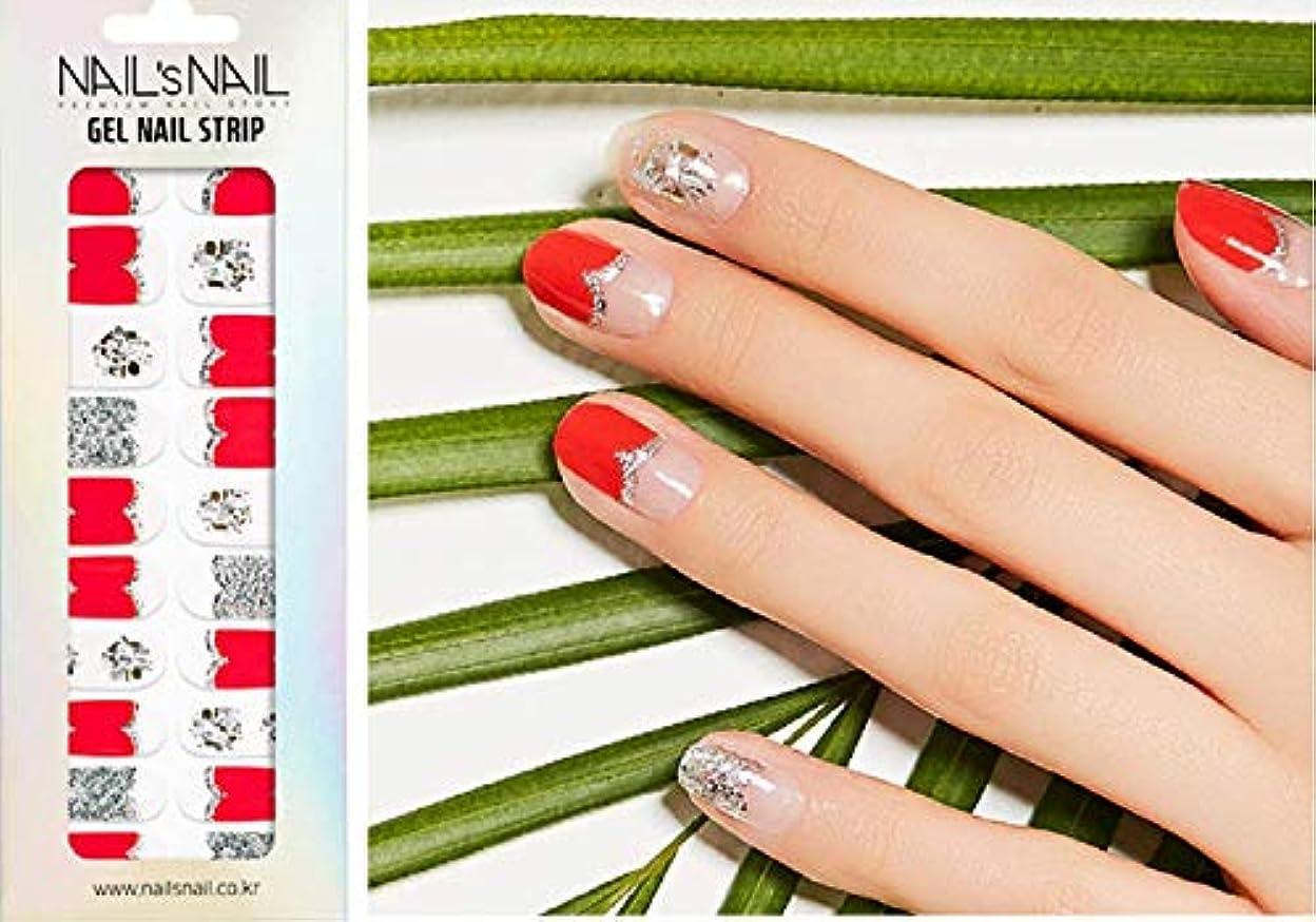絶妙健康的かろうじて\貼るジェルネイル/Nail's Nail(ネイルスネイル) ジェルネイルストリップ 137