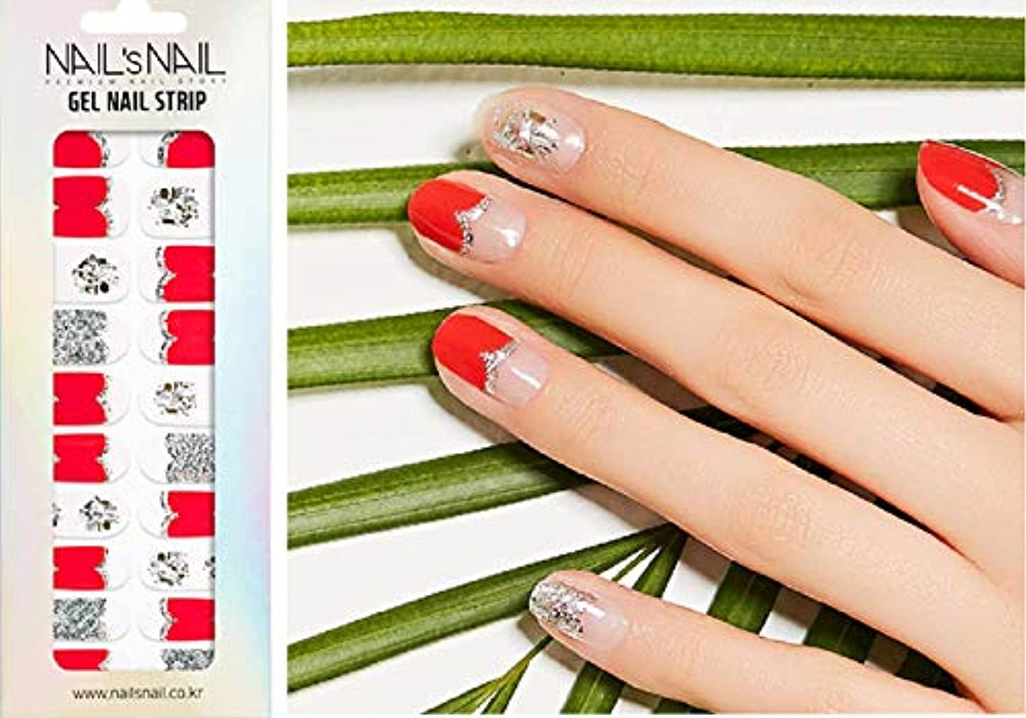水銀のペースト石化する\貼るジェルネイル/Nail's Nail(ネイルスネイル) ジェルネイルストリップ 137