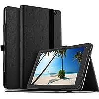 IVSO Samsung Galaxy Tab S4 10.5 SM-T830 (Wi-Fi)/SM-T835 (LTE) タブレット ケース 新型 Samsung Galaxy Tab S4 10.5 SM-T830 タブレット カバー上質PUレザー ケース NEWモデル 超薄型 軽量カバー さらさらタイプ スタンドケース 超保護機能 シンプル サムスン Galaxy Tab S4 10.5 SM-T835 スマートケース ブラック