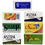 Double Edge Razor Blade/Safety Razor Blade Variety Pack 100 Blades for All Standard Double Edge Safety Razors