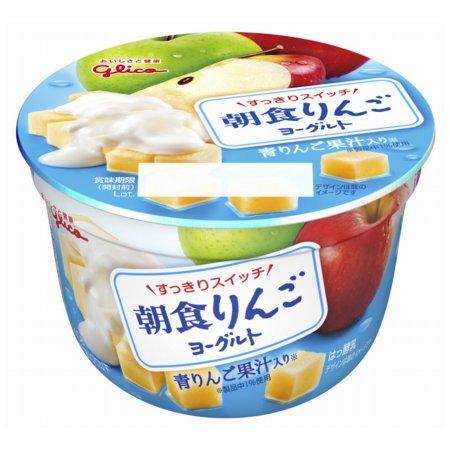 グリコ 朝食りんごヨーグルト140g 12個