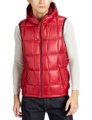 Nylon Hooded Down Vest 7565-640-0001: Red