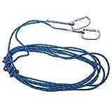 【ノーブランド 品】プロ ロック クライミング スタティック ロープ レスキュー エスケープ 4色3サイズ選べる - ブルー, 20M 10.5MM