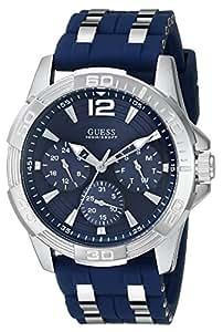 GUESS[ゲス] U0366G2 Blue Silicone シルバー×ブルーシリコンバンド メンズ 腕時計[並行輸入品]
