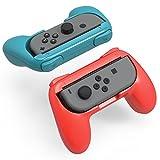 スイッチ ジョイコン ハンドル [2個セット] Switch コントローラー グリップ 素早く反応 寸法最適 YOSH® 任天堂 Joy Con 専用 レッド ブルー