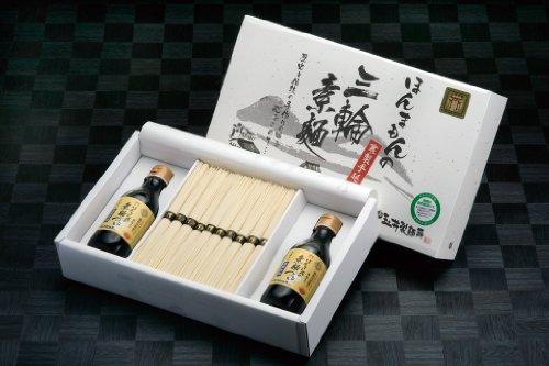 【無添加つゆ2本付で便利!】ほんまもん三輪素麺 K-素麺つゆセット紙箱