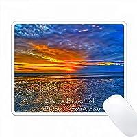 インスピレーションメッセージで素晴らしい夕日をプリント PC Mouse Pad パソコン マウスパッド