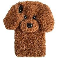 e3e4abebfd iPhone X 専用携帯ケース もこもこ お洒落 テディー いぬ 犬耳 ポンポン ファー ぬいぐるみ 3Dソフト