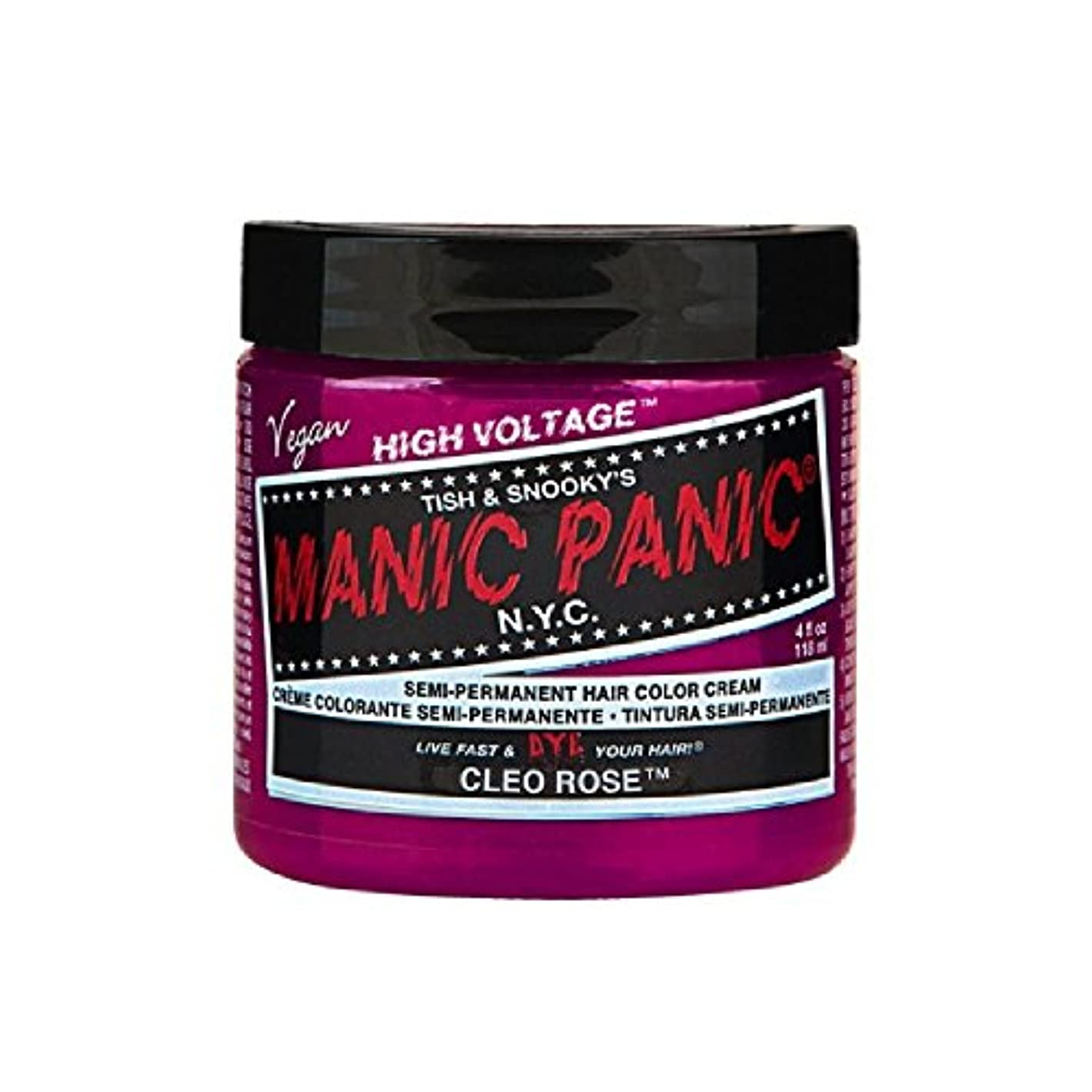 学期アクセント話をするMANIC PANIC マニックパニック 118ml Cleo Rose クレオローズ MC11046