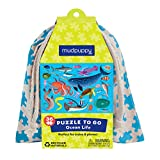 Mudpuppy Outer Space Puzzle to Go-Great for Kids Age 3+ - Colorful Illustrations of Rockets in Space – Packaged in Drawstring Fabric Pouch – Great Travel Puzzle for Toddlers