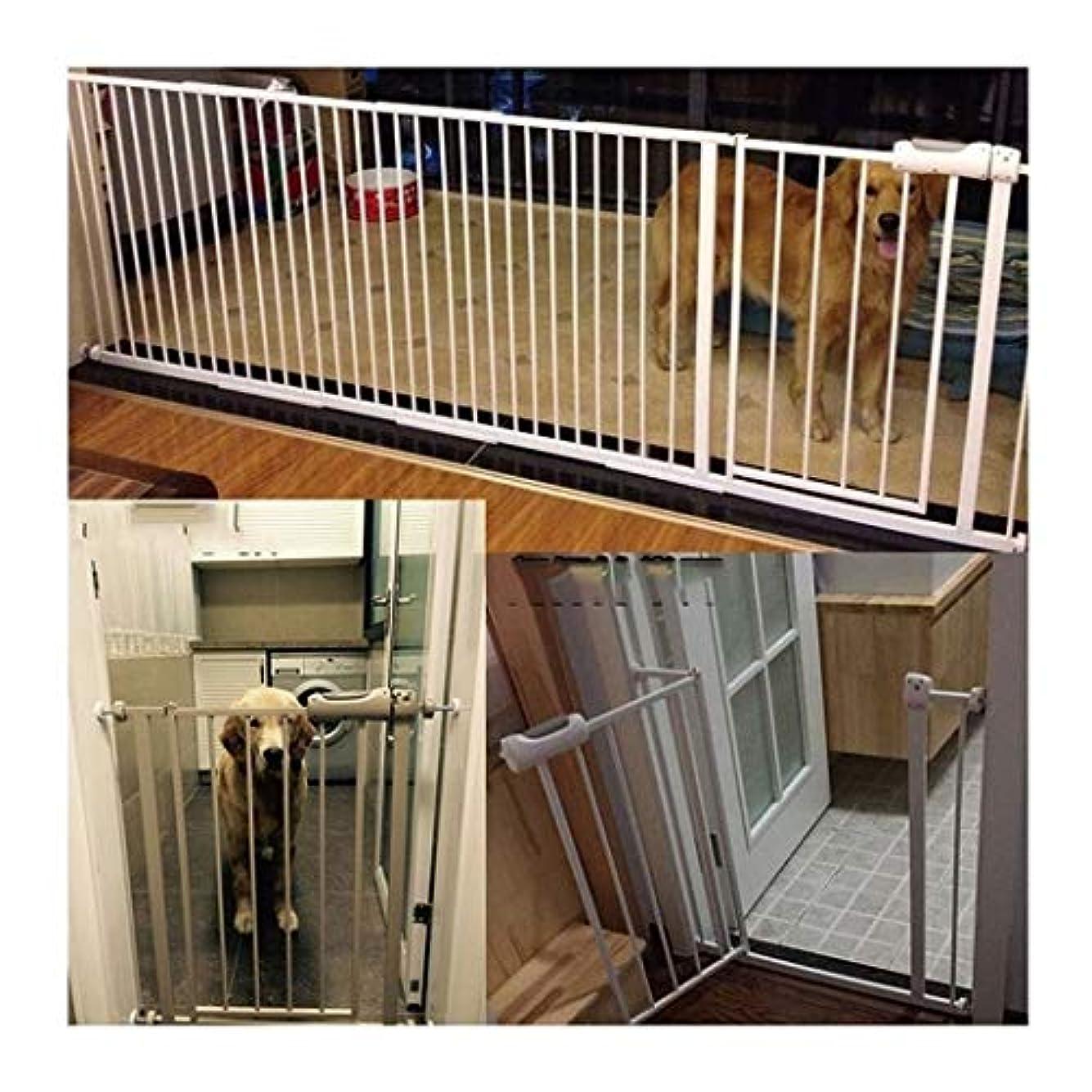 あいさつ有罪滑るベビーゲート セルフクロージングの犬のフェンス赤ちゃんの安全ゲイツガード手すりの単離ドアバーペット猫アイアン無料パンチングインストールウォークスルー (Color : White H78CM width, Size : 75-84cm)