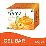 Fiama Gel Bathing Bar, Peach and Avocado, (3 * 125g)