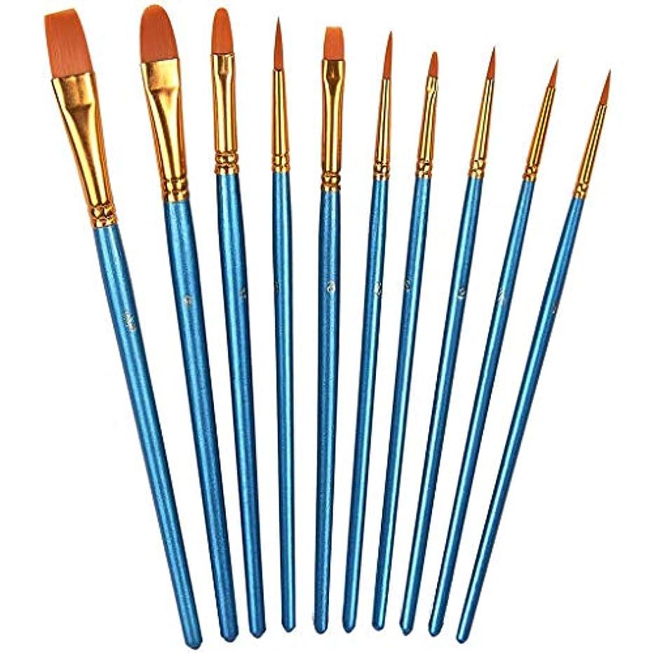 ステートメント典型的なモトリーLazayyii 丸い先の尖った先端のナイロン毛の芸術家の細部の絵筆専門の罰金 (1セット)