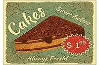 冷蔵庫用マグネット Fridge Magnet Coffee Cafe Bar Cake