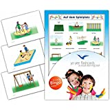 Playground Flashcards in German Language - Flash Cards with Matching Bingo Game for Toddlers, Kids, Children and Adults - Size 4.13 × 5.83 in - DIN A6