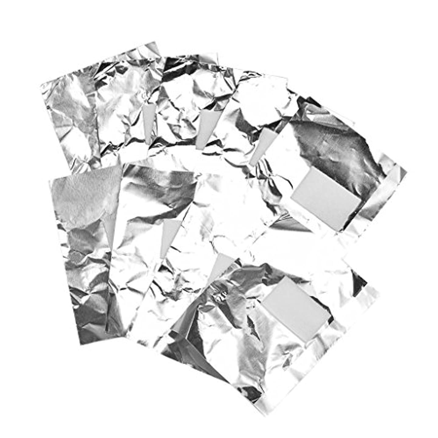 キャプション蒸発一約100枚 ジェル除却 ネイルアート 錫箔紙 のり除却可能 ネイルオイル クリーナーツール 爪装飾除き 包み紙