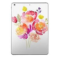 第1世代 iPad Pro 9.7 inch インチ 共通 スキンシール apple アップル アイパッド プロ A1673 A1674 A1675 タブレット tablet シール ステッカー ケース 保護シール 背面 人気 単品 おしゃれ フラワー 水彩 赤 ピンク 009487