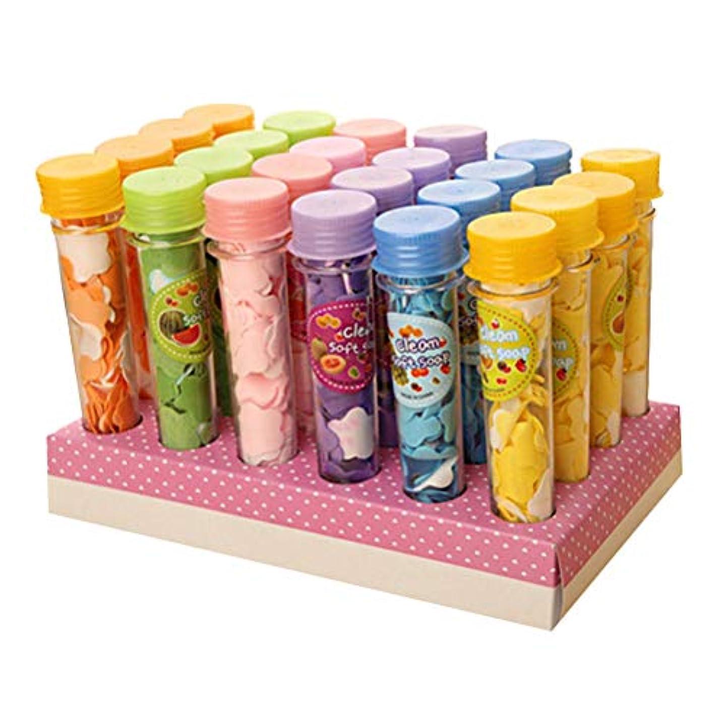 TOPBATHY 石鹸用紙シーツポータブル石鹸フレークトラベルハンドソープアウトドアキャンプハイキング用石鹸3pcs(ランダムカラー)