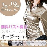 (ドルチェルビ) DOLCE LABY レディース ドゥエボットーニシャツ 8ネイビー織柄(25197-15) 15号