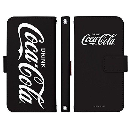 RoomClip商品情報 - XPERIA XZ SO-01J 手帳型 ケース [デザイン:B.ビックロゴ(黒)/マグネットハンドあり] Coca-Cola コカ・コーラ エクスペリア スマホ カバー