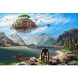 大人のためのジグソーパズル子供1000ピースジグソーパズル宮崎アニメパズルに挑戦するパズルゲーム