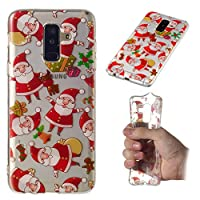 Samsung Galaxy A6 Plus 2018 シェル, Happon Samsung Galaxy A6 Plus 2018 カバー バックシェル バックシェル 全面保護カバー 保護 鎧 緩衝器 カバー バックシェル シェル の Samsung Galaxy A6 Plus 2018-Santa