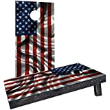 Custom Cornhole Boards Incorporated CCB1243-C Waving American Flag Cornhole Boards [並行輸入品]