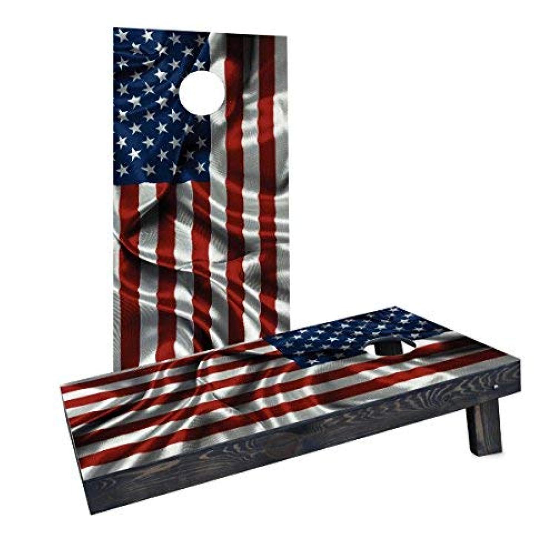 Custom Cornhole Boards Incorporated CCB1243-C Waving American Flag Cornhole Boards [並行輸入品]
