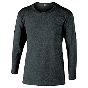おたふく手袋 ボディータフネス 発熱・保温 テックサーモ インナーシャツ 長袖丸首 モクグレー JW-169 M/L/LL