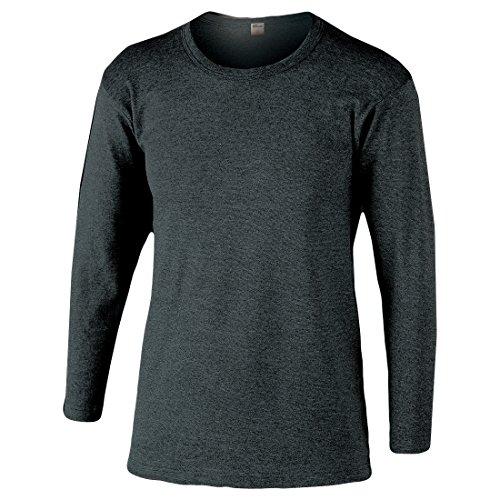 おたふく手袋 ボディータフネス 発熱・保温 テックサーモ インナーシャツ 長袖丸首 モクグレー JW-169 M L LL