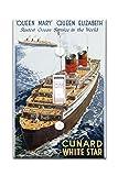 キュナードホワイトStar–Queen Mary and Queen Elizabethヴィンテージポスター(アーティスト: Thomas ) England c。1938(ライトスイッチプレートカバー)