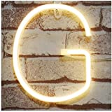 DELICORE Neon Letter Sign Night Lights LED Alphabet Neon Art Lights Wall Decor Light up Words for Wedding Birthday Party Christmas Home Bar Decoration G