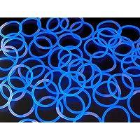 《ブルー(その他9色あり)》 ルミカ社製 サイリウムブレス 単色50本セット サイリュームライトで光るブレスレット ダンスやフェス コンサートにも