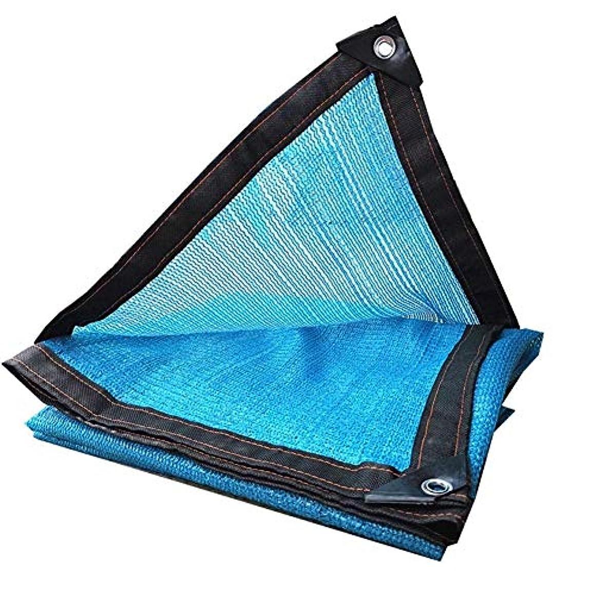 線形一人で現象日よけネット、グロメット付きシェードクロス、断熱冷却防塵通気性ブロックライトポリエチレンガーデニングパーキングシェッド、植物用、花 ZHAOFENGMING (Color : Blue, Size : 2x3m)