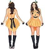 パンプキン かぼちゃ 魔女 ヴァンパイア ハロウィン 衣装 コスプレ セット 豪華セット 仮装 パーティー ハロウィン衣装 高級 本格志向 コスプレ衣装 コスチューム パーティジャック wwp (パンプキン)