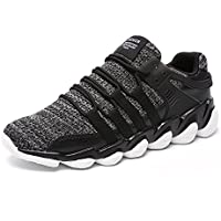 Men's Lightweight Breathable Running Shoes Comfortable Mesh Sports Athletic Sneakers Fashion Casual Walking Lace-up Roading Shoes