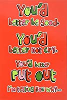 5927 'Better Put Out' - Funny Merry Christmas Greeting Card with 5 x 7 Envelope by NobleWorks [並行輸入品]